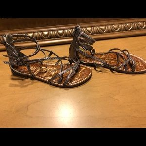 Triple Strap Sam Edelman Bronze Sandals- Size   8